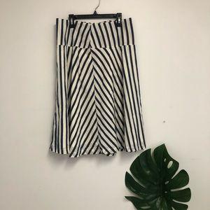 Allison Joy a line striped skirt